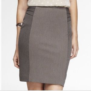 High Waist Pintucked Pencil Skirt